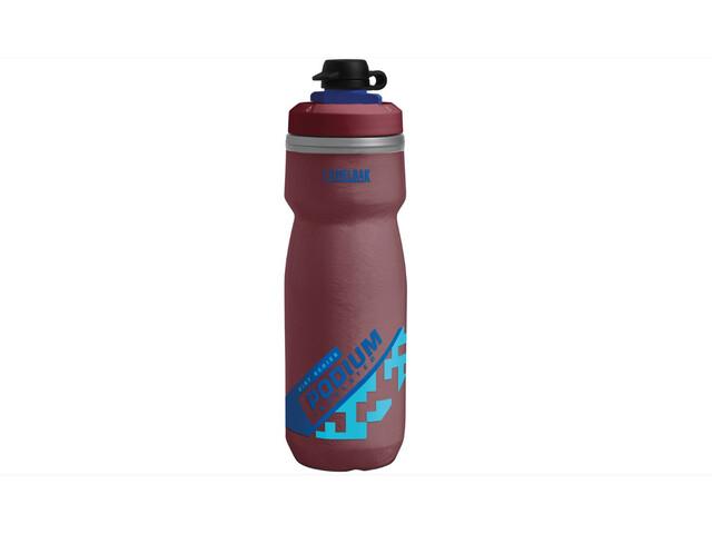 CamelBak Podium Chill Dirt Series Drikkeflaske 620ml, burgundy/blue